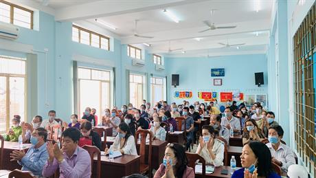 Chương trình hội nghị công bố Thông báo thu hồi đất Hạng mục Xây dựng kè và đường Nam sông cái Nha Trang