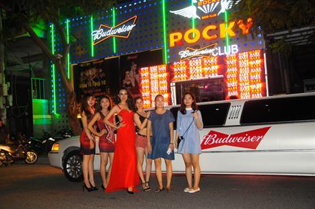 Budweiser at Rocky bar